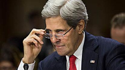 John Kerry blasts climate 'Neanderthals', questions Adani mine
