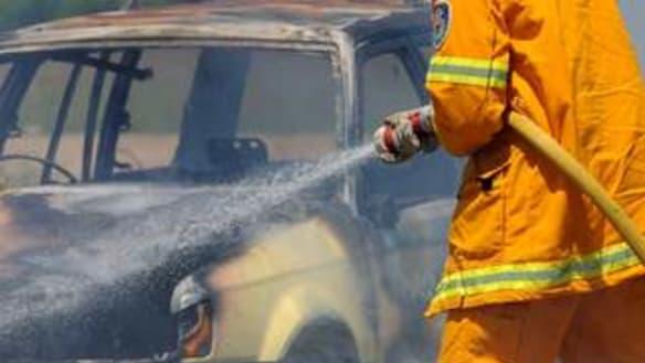 Bushfire emergency warning in the Shire of York