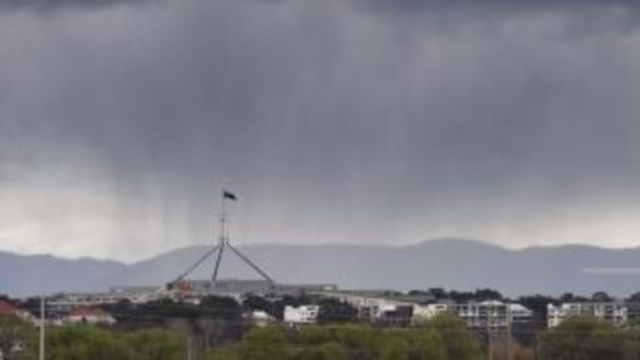 More rain predicted for Canberra after 19-minute burst drenches capital overnight