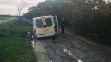 Two Victorian men became bogged as they tried to sneak into South Australia.