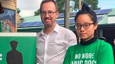 Greens MLC David Shoebridge with Xiaoran Shi.