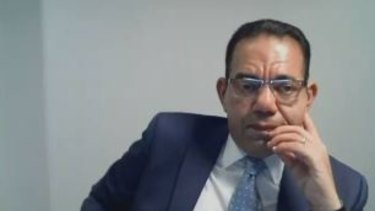 Sam Aziz during his fifth day of questioning by IBAC on Monday.
