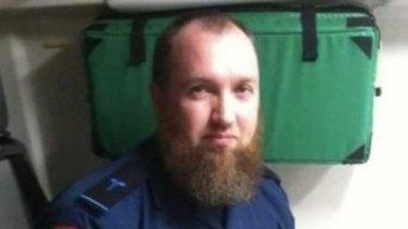Adam Brookman when working as an ambulance paramedic.