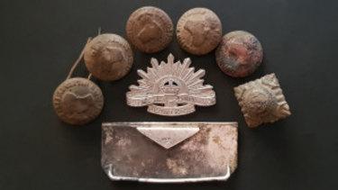 The army nurse rising sun badge found buried behind the Bulimba Uniting Church.