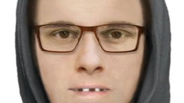 A computer-generated image of the man police want to speak to over the brutal attack.