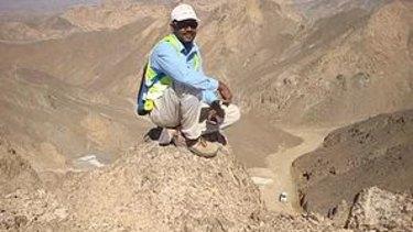 A worker at the Abu Dabbab mine.