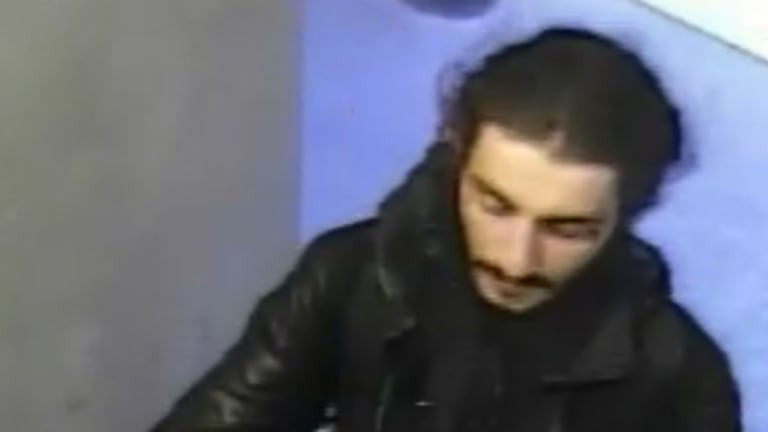 A CCTV image of the man police want to speak to over a fatal hit-run in South Yarra on Sunday morning.