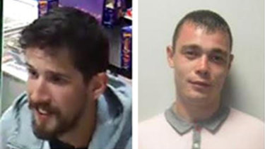 Homicide Squad detectives are appealing for public assistance to help locate Jack Harvey (left) and Mark Dixon in relation to a shooting at Point Cook last week.