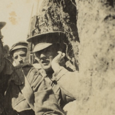 Photo of troops in the trenches at Gallipoli, believed to be given to Constance Keys by a solider she nursed.