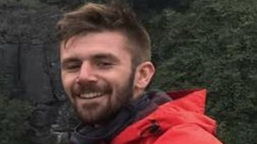 Danny Maggs, 22, had his right calf mauled during the attack.
