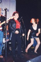 Joan Kirner rocks out with a familiar face in the background: future PM Julia Gillard.