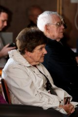 In 2012 Joan Kirner attends the Newport Forum on $290 million worth of funding cut to the TAFE program.