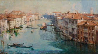 Arthur Streeton's record-breaking Grand Canal.