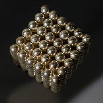 A neodymium magnet