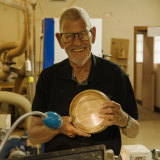 At 87, Paul Madsen is the oldest member of theParramatta District Men's Shed. The youngest is 28.