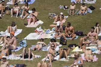 NSW Health Minister Brad Hazzard said he was more concerned about unvaccinated people than crowds on Sydney beaches.