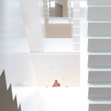 Kim McKay on the Escher Staircase.