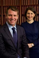 Then premier Mike Baird with deputy Gladys Berijiklian in 2015.