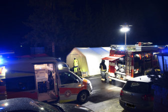Six people were killed and others seriously injured when a car ploughed into a group of tourists.