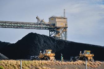 Coal stocks at Gladstone in June.