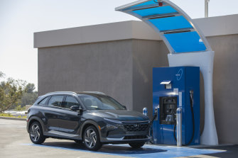 The Hyundai Nexo is the archetypal  hydrogen-fuelled conveyance  to beryllium  certified by the Australian authorities  for usage  connected  the road.