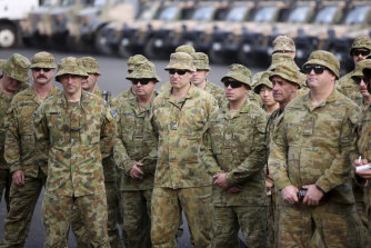 ADF Reservists prepared at Holsworthy Army Barracks in south-west Sydney last month for deployment in response to the unprecedented bushfires across the country.