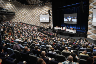Marathon AGM: After close to three hours, Westpac's annual meeting had not moved past the first agenda item.