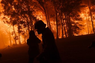 Firefighters were overwhelmed by the flames of the Green Wattle Creek fire.