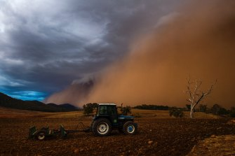 Spectacular dust storms impacted much of western NSW on Sunday.