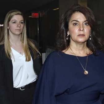 """Annabella Sciorra (right) told the jury: """"It was just so disgusting that my body started to shake."""""""