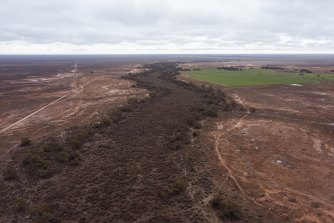 Mirrool Creek runs 15 kilometres through Paul Porter's property - at least when water is released from a dam upstream.