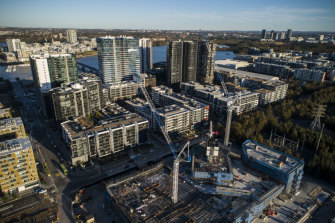 The route of the second stage of the light rail was slated to pass through Wentworth Point, which has already undergone an apartment boom.