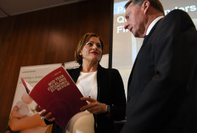Jim Murphy, pictured with Jackie Trad, served as under treasurer from 2015-2018.