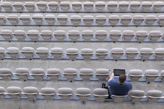 Journalists were among the handful of people allowed to attend round-two NRL matches last week.