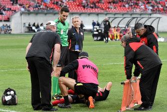Wanderers midfielder Jordan O'Doherty suffered a knee injury in February last year.