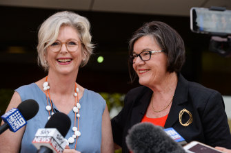 Independent candidate Helen Haines ran to replace Cathy McGowan as the MP for Indi, with support from the Voices for Indi group.