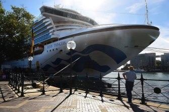The Ruby Princess docked in Sydney on Thursday.