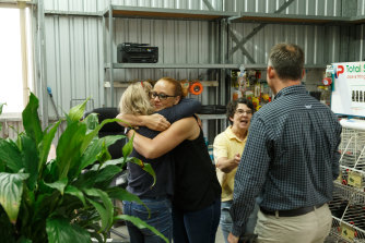 Williamtown red zone residents celebrate the announcement of a settlement.