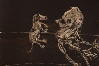 Reflections of the Dog of Goya II, 2021 by John Olsen.