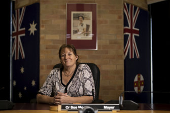 Singleton mayor Sue Moore at the town's Civic Centre. The mayor is looking to a time when her town is much less dependent on coal.