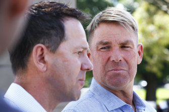 Shane Warne and Ricky Ponting were set to captain the two teams in the fundraiser on Saturday.
