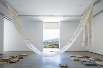 Installation by Katie West at the TarraWarra Museum of Art, 2019.