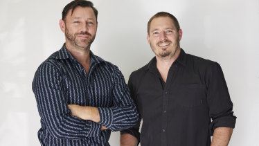 Aaron Wittman (left) and Troy Brown (right), founders of accounting risk startup Xbert.