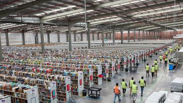 Amazon's Melbourne fulfilment centre in Dandenong South.