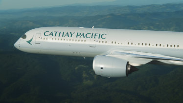 Cathay Pacific's passenger numbers were down 46 per cent in November.