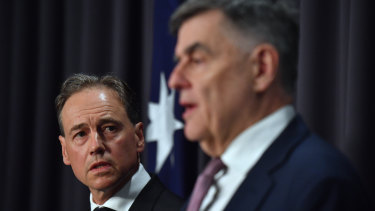 Federal Health Minister Greg Hunt and chief medical officer Brendan Murphy provide an update on coronavirus.