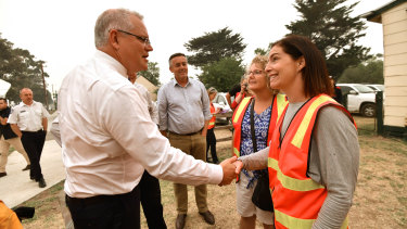 Scott Morrison got a friendlier reception in Gippsland.