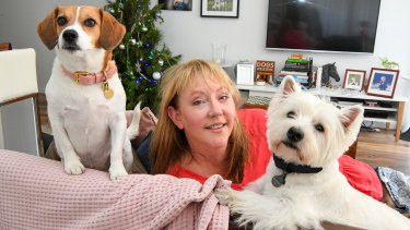 Devoted to each other: Tiffany Spiers with Daisy and Fergus.