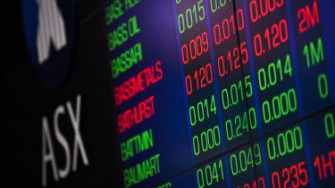 The ASX trading board.
