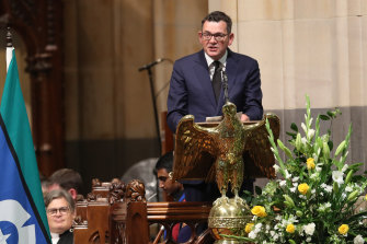 Premier Daniel Andrews paid tribute to John Cain's legacy as a leader who modernised Victoria and the Labor party.